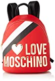 Love Moschino Jc4286pp0a, Zaino Donna, Multicolore (Red Black Multi), 13x30x26 cm (W x H x L)