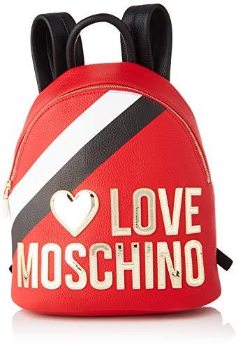 Love Moschino Jc4286pp0a, Zaino Donna, Multicolore (Red Black Multi), 13x30x26 cm (W x H x L)