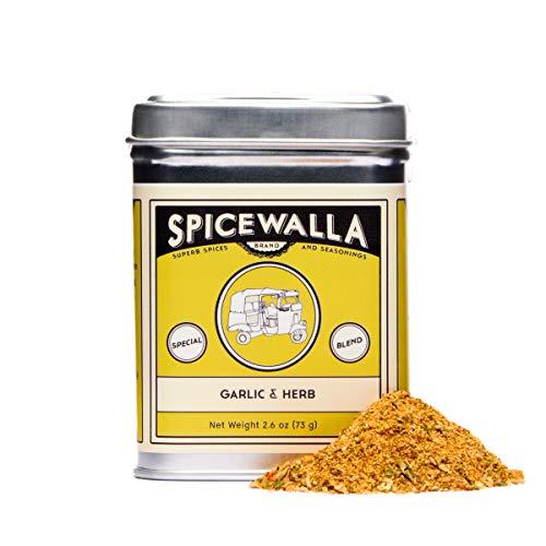 Spicewalla Garlic Herb Seasoning 2.6 oz | Salt Free, No MSG, Non GMO | Herbs and Spices Blend