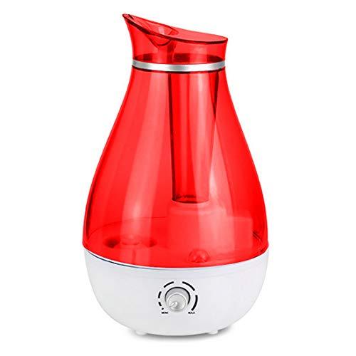 Xuyan luchtbevochtiger met koude stoom, aromatherapie, luchtreiniger, automatische uitschakeling zonder water, professionele slaapkamer, kantoor, rood