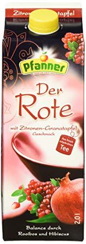 Pfanner Roter Tee Zitrone-Granatapfel, 6er Pack (6 x 2 l)