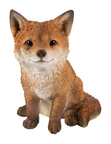 Sitzender Fuchs Cub In hohem Grade ausführliche Ausgangs- oder Garten-Dekoration