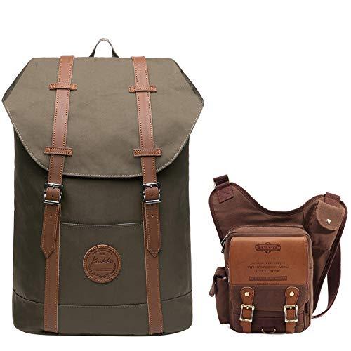 KAUKKO Travel Casual Rucksack Laptop Daypack | KAUKKO Vintage Shoulder...