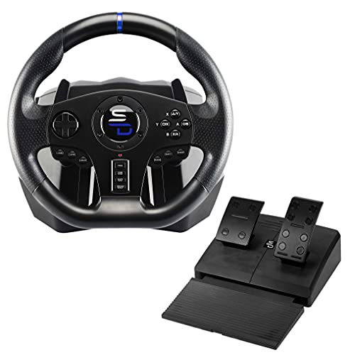 Superdrive - Rennlenkrad SV750 Drive Pro Sport Lenkrâd mit Pedal, Shift und Vibration - Xbox Serie X/S, PS4, Xbox One, Switch, PC (programmierbar für alle Spiele)