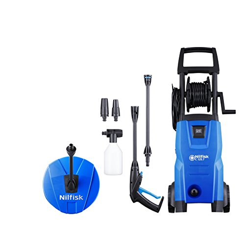 Nilfisk 128470805 Idropulitrice ad Alta Pressione 125 Bar (Include Il Patio Cleaner), 1500 W, 230 V, Black, Blue
