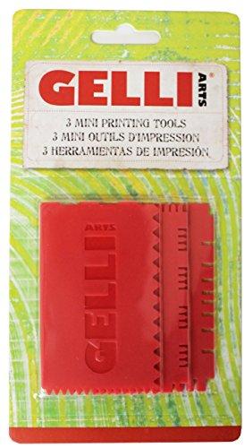 Gelli Arts Mini Printing Tools Set 3, 19 x 10.1 x 0.6 cm, Red