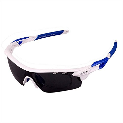 Gafas de moda Polarized Sports Sunglasses PC 3 Unids Lentes Intercambiables Miopic Para Hombres Mujeres Pesca al aire libre Montar Conducción Occhiali (Color : Blue)
