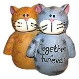 Blossom Bucket Orange & Grey Tabby CAT Friends Together Fur Ever Resin Figurine