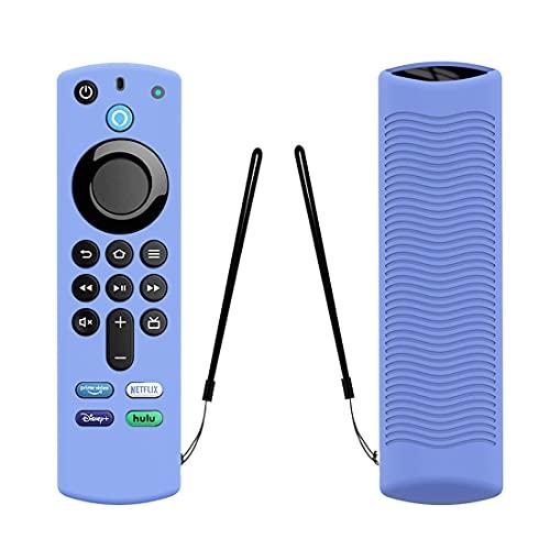 Funda remota para Alexa Voice Remote (3ª generación) -2021 Release Fire TV Stick 4K Remote Silicone Cover Glow Remote Skin (azul)