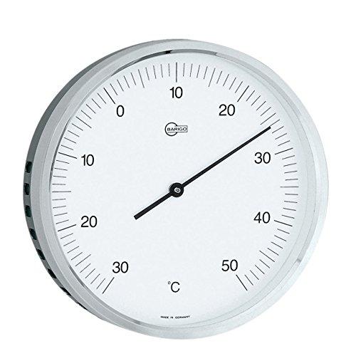 BARIGO Thermometer mit Bi-Metall-Werk, Ø 100mm, Edelstahl, schwarz/silber
