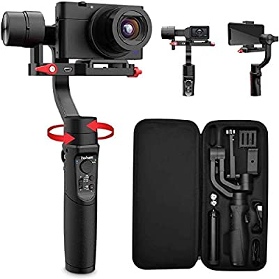 Hohem All in 1 3-Axis Gimbal Stabilizer for Compact Cameras/Action Camera/Smartphone w/ 600° Inception Mode, 0.9lbs Payload for iPhone 11 Pro Max/Gopro Hero 8/Sony Compact Camera RX100 - iSteady Multi from hohem