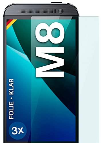 moex Klare Schutzfolie kompatibel mit HTC One M8 / M8s - Bildschirmfolie kristallklar, HD Bildschirmschutz, dünne Kratzfeste Folie, 3X Stück