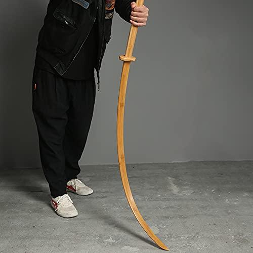 LBSI Katana Bokken Japonesa Espada de Práctica de Entrenamiento de Iai Espada de Madera sin Vaina Kendo Katana Decorada Juguete de Madera Rendimiento (120cm)