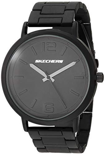 Skechers Men's Ardmore Alloy Steel Quartz Watch Strap, Black, 22 (Model: SR5143)
