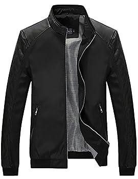 Tanming Men s Casual Slim Fit Lightweight Zip Up Softshell Bomber Jacket  XX-Large Black