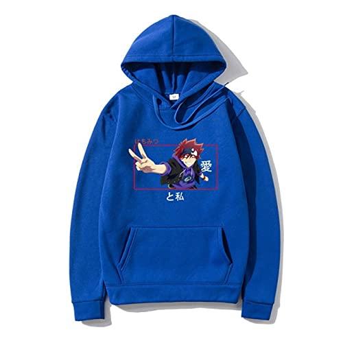 Plantian SK8 Anime Hoodie Juego de Dibujos Animados Chaqueta Unisex de Manga Larga Completa Impreso Jersey Ligero Hombres con Capucha y Bolsillo Oversize