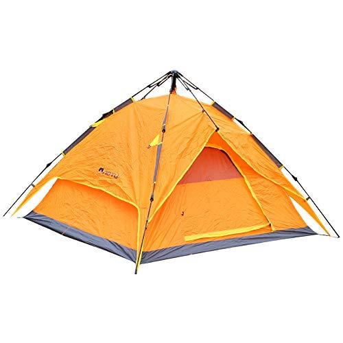 TAKE FANS Carpas de camping para 2 – 3 personas, impermeable Pop Up Tienda familiar instantánea para acampar al aire libre, senderismo, fácil de configurar (naranja)