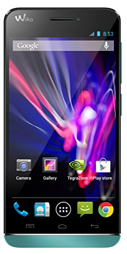 Wiko 9333 Wax 4G LTE Smartphone (11,9 cm (4,7 Zoll) HD IPS-Display, Nvidia Tegra 4i, 1,7 GHz Quad-Core Prozessor, 8 Megapixel Kamera, 5 Megapixel Front-Kamera, 4 GB interner Speicher, 1 GB RAM, Android 4.3 Jelly Bean) türkis