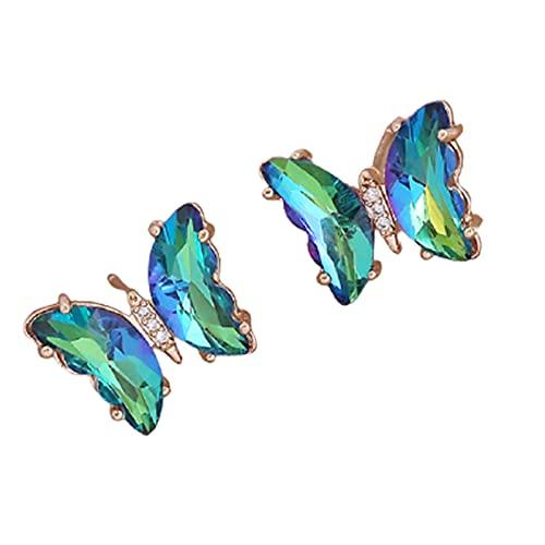 lefeindgdi Pendientes de mariposa, joyería fina minimalista, cambio de color, cumpleaños para mujeres y niñas