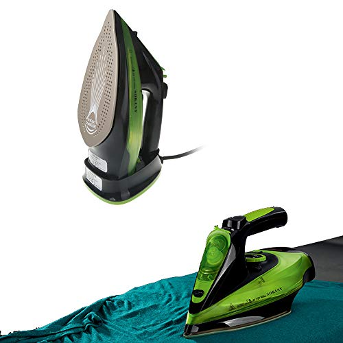 Sinbide 2400W Plancha de Vapor Inalámbrica Golpe de Vapor Anti-Escala Anti Goteo Auto Limpieza Placa Base de Acero Inoxidable Suela de Cerámica Antiadherente (A)