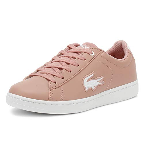 Lacoste Carnaby Evo 418 3 Roze/Wit Synthetisch Jeugd Sneakers Schoenen