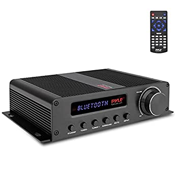 Wireless Bluetooth Home Audio Amplifier - 100W 5 Channel Home Theater Power Stereo Receiver Surround Sound w/ HDMI AUX FM Antenna Subwoofer Speaker Input 12V Adapter - Pyle PFA540BT