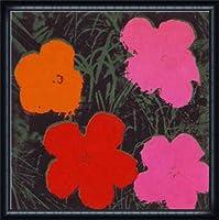ポスター アンディ ウォーホル Flowers I 額装品 ウッドハイグレードフレーム(ネイビー)