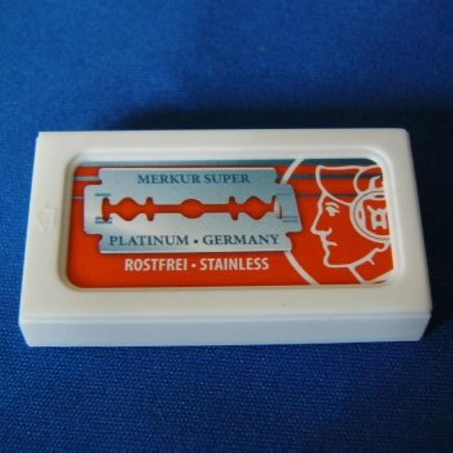 祝福する鎮静剤おもしろい替刃 10枚入メルクール髭剃り(ひげそり)用