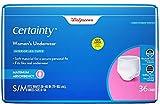 Certainty Dri-Fit Underwear for Women, Maximum Absorbency S/M