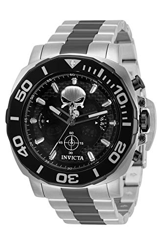 Invicta Men's 35094 Marvel The Punisher Limited Edition Black and Silver Watch