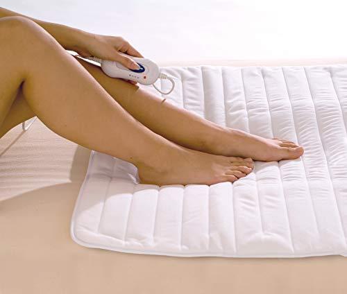 Hydas Fuß-Wärmeunterbett, optimale Wärme bei kalten Füßen, angenehmer Wohlfühlfaktor für schnelleres Einschlafen und einen entspannten Schlaf (50 W, 80 x 60 cm)