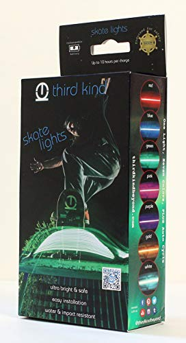Third Kind Skateboard Longboard Lights. Safe, Fun and The only Lights endorsed by Police for Safety