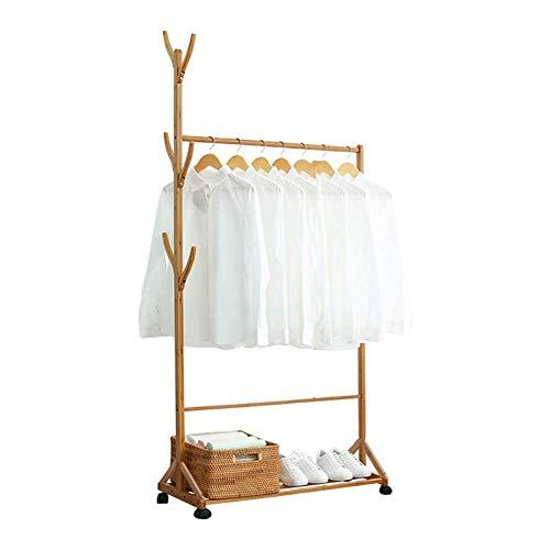 RaraLifeハンガーラック木製棚付き衣類収納収納ラックキャスター付き幅60幅70幅80幅100(幅60㎝)