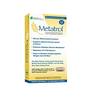 American BioSciences Metatrol Mitochondrial Rescue and Daily Immune System Support Fermented Wheat Germ Extract - Super Concentrate 60 Vegetarian Capsules 41mg of FWGE-SC per Serving