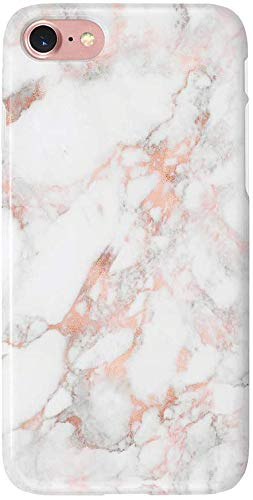uCOLOR Rose Gold Marble Matt Case Compatible with iPhone 8 Compatible with iPhone 7/6S/6 Case for Girls Soft TPU Protective Case Compatible with iPhone 6S/6/7/8