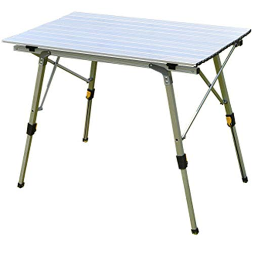 ZFLL Klaptafels en stoelen -niqueOutdoor klaptafel stoel camping aluminiumlegering picknicktafel waterdicht duurzaam klaptafel bureau voor 90 * 53 cm