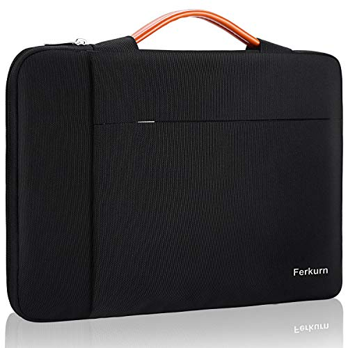 "Ferkurn 13-13.5 Inch Laptop Sleeve Case Protective Bag with Handle Compatible with MacBook Pro 13"", MacBook Air 13.3"", Notebook 13.5"", Surface, XPS, HP, ASUS, Acer, Waterproof Cover with Pocket,Black"