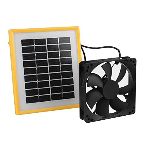 SODIAL Ventilador de Escape Solar de 12V 20W Extractor de Aire Ventilador de 6 Pulgadas Ventilador Accionado por Panel Solar para Invernadero de Gallinero para Perros