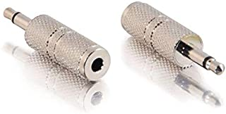 C2G 3,5mm Stereo Vrouwelijk Naar 3,5mm Mono Mannelijke Adapter, Roestvrij Staal Mono Man naar Stereo Vrouwelijk 3,5mm Jack