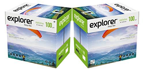 EXPLORER - Papel blanco multiusos para impresora - A4 100gr - 10 paquetes - 5000 folios