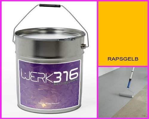 6,75€/l - 20L Bodenbeschichtung Betonfarbe Bodenfarbe Bodenversiegelung Garagenfarbe Rapsgelb