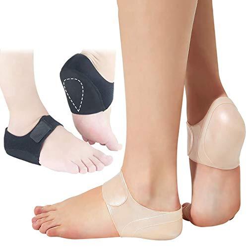 Fersensporn Bandage, FunPa 2 Paar Fersenschutz Silikon Gel Fersenpolster Fersensporn Socken Fersensporn Einlagen für Plantarfasziitis Schmerz und Druck lindern Fersensporn schützen