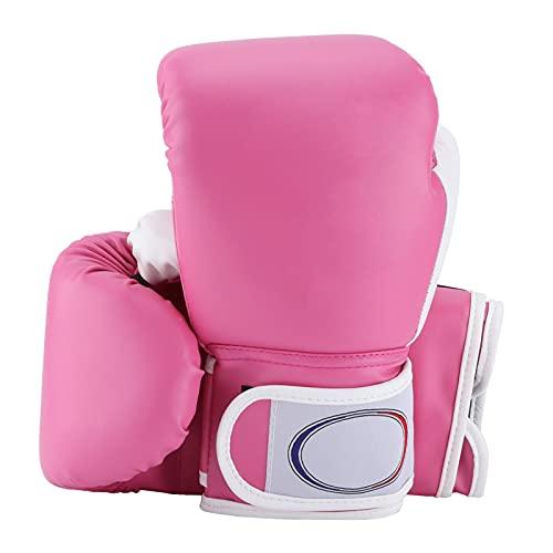 FOLOSAFENAR Guantes de Boxeo de Entrenamiento para niños, prácticos 1 par de Guantes de Boxeo para niños, Suaves, cómodos, delicados para niños y niñas(Rosado)