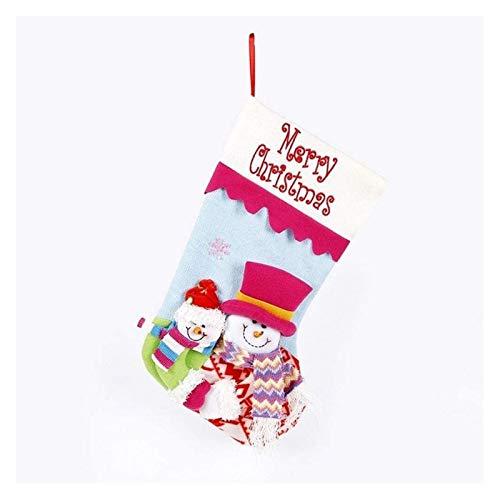 Adorno De Navidad Calcetines De La Navidad De Punto De Alta Gama Santa Claus Muñeco De Nieve Bolsas Calcetines Adornos Adornos para La Decoración De La Oficina en casa.