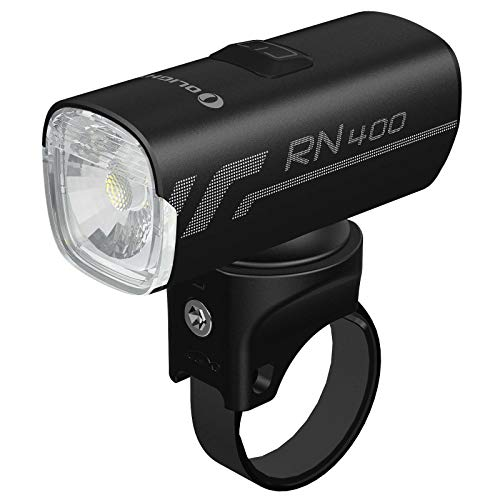 Tidusky OLIGHT RN 400 - Iluminación frontal universal para bicicleta de montaña (400 lúmenes, USB, recargable, resistente al agua)