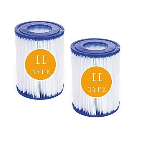 BBUY Filtro para piscina tipo II Bestway 530/800 GAL/hora, cartucho de filtro de repuesto para Bestway 58094 (2 unidades)