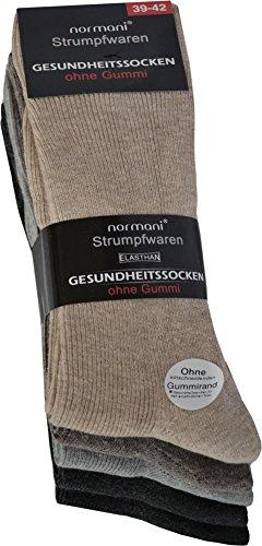 normani 10 Paar Diabetiker Herren Socken ohne Gummi farbig Baumwolle Farbe Baumwolle/Hell Größe 43/46