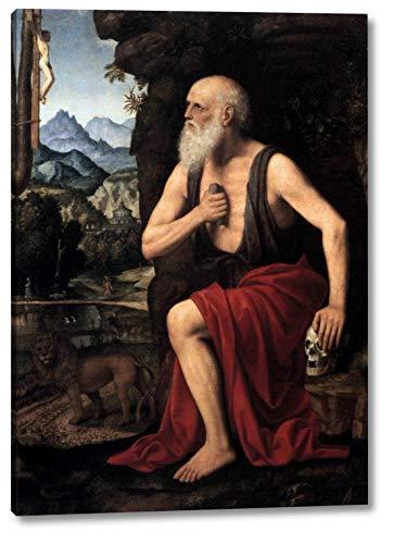 "The Penitent St Jerome by Bernardino Luini - 9"" x 12"" Gallery Wrap Canvas Art Print - Ready to Hang"