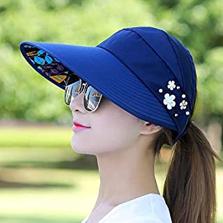 BEESCLOVER Women Lady Sunhat Beach Hat Visors Foldable Cap for Outdoor