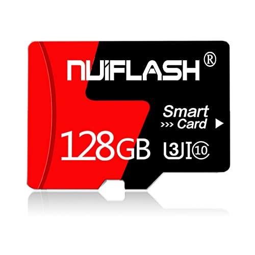 Micro-SD-Karte, 128 GB, TF-Karte, Speicherkarte 128 GB, mit Adapter für Handy, Dashcame, Überwachung, Kamera, Fahrtenschreiber, Tablet, Computer, Drohne